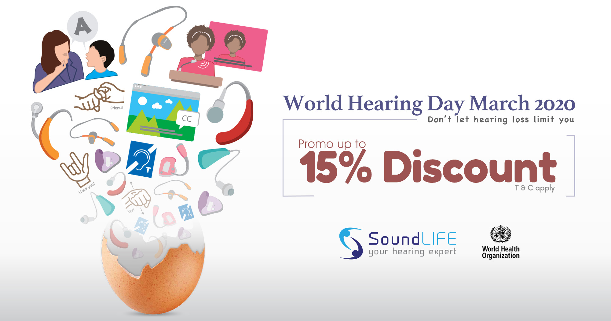 World Hearing Day Promo Up To 15% Discount.