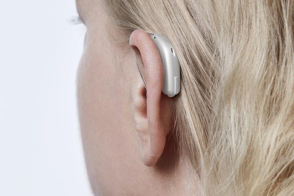 Opn Minirite Silver 1 On Ear View