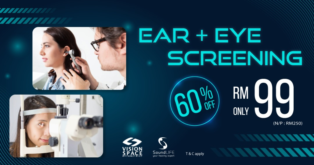 60% Off Ear & Eye Comprehensive Screening Package At Ss2!